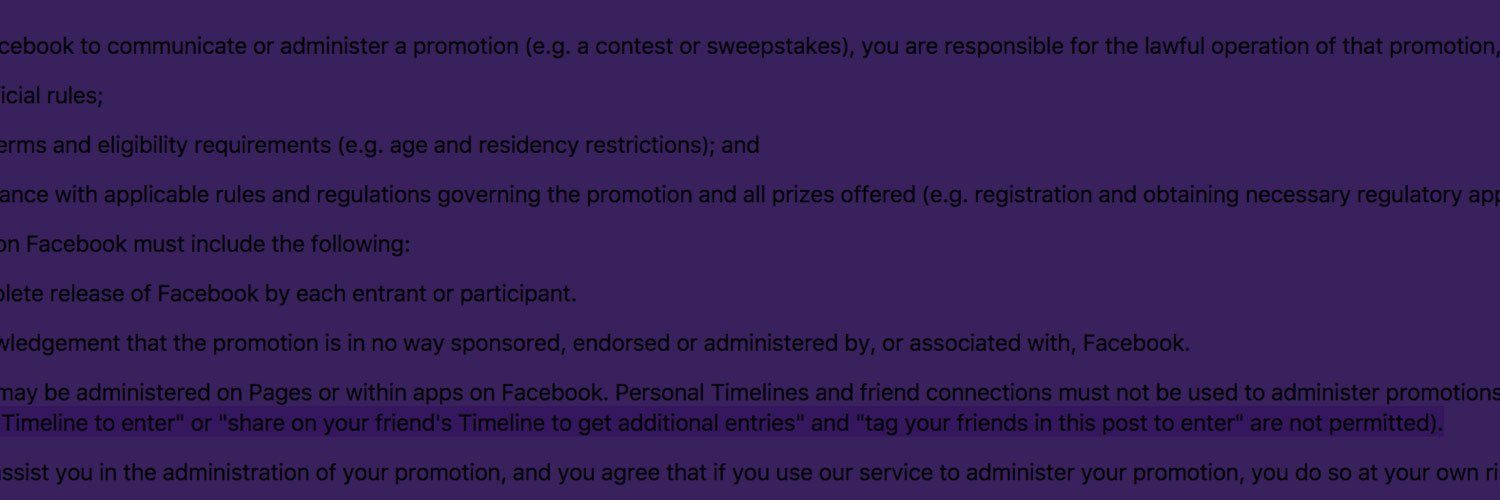 Social media competition rules – a quick reference guide