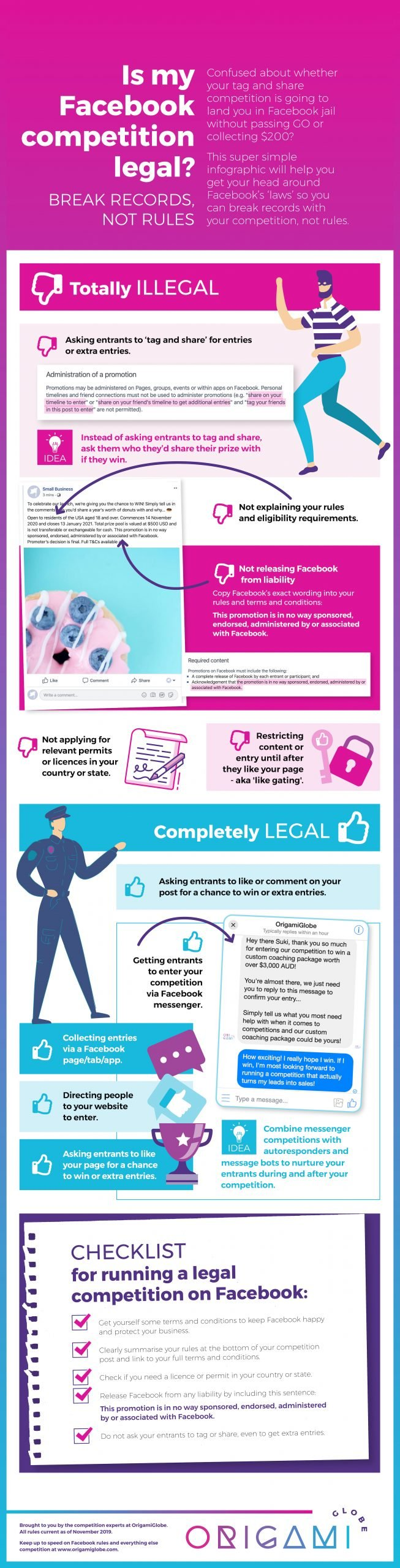 Infographic is my Facebook competition or contest legal?