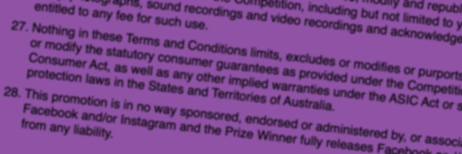 Competition terms and conditions – the ultimate guide.